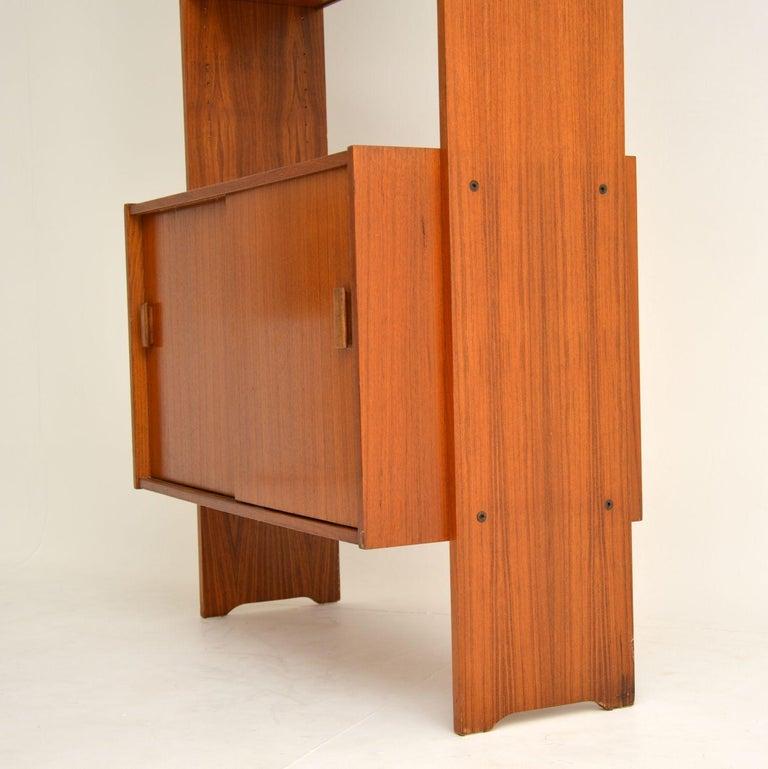1960s Danish Vintage Teak Bookcase For Sale 5
