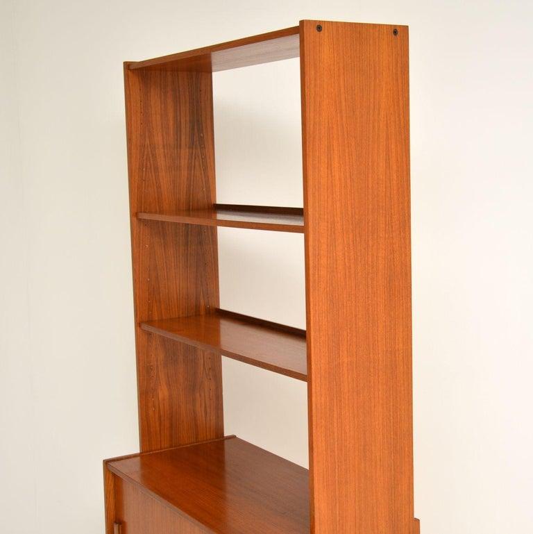 1960s Danish Vintage Teak Bookcase For Sale 6