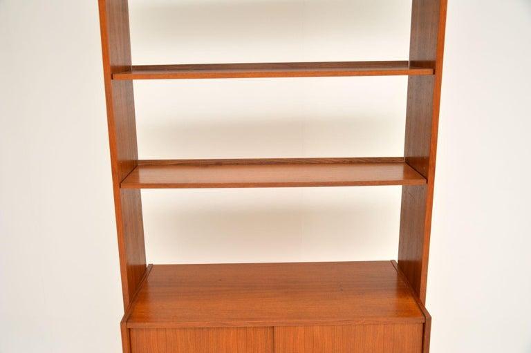 1960s Danish Vintage Teak Bookcase For Sale 7