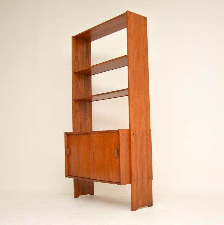 Mid-Century Modern 1960s Danish Vintage Teak Bookcase For Sale