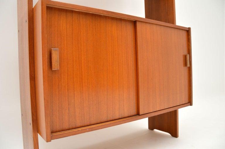 20th Century 1960s Danish Vintage Teak Bookcase For Sale