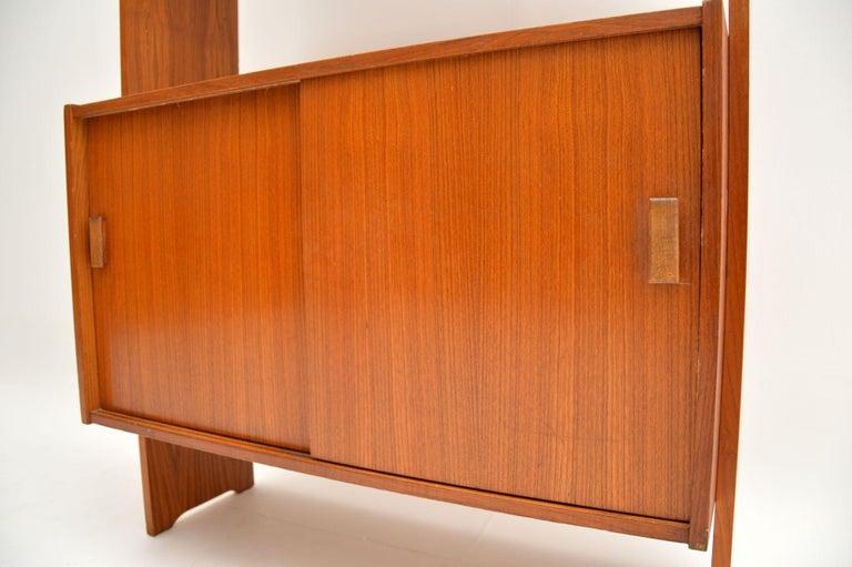 1960s Danish Vintage Teak Bookcase For Sale 1