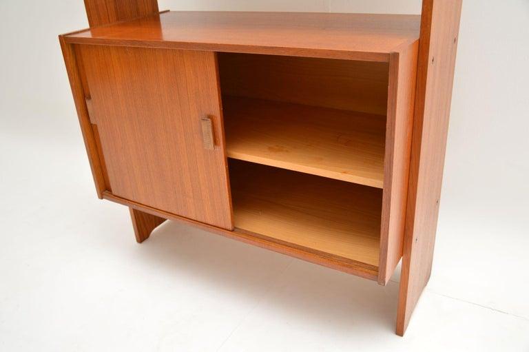 1960s Danish Vintage Teak Bookcase For Sale 2