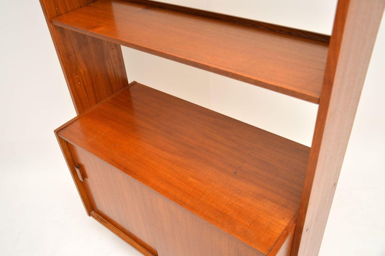 1960s Danish Vintage Teak Bookcase For Sale 3