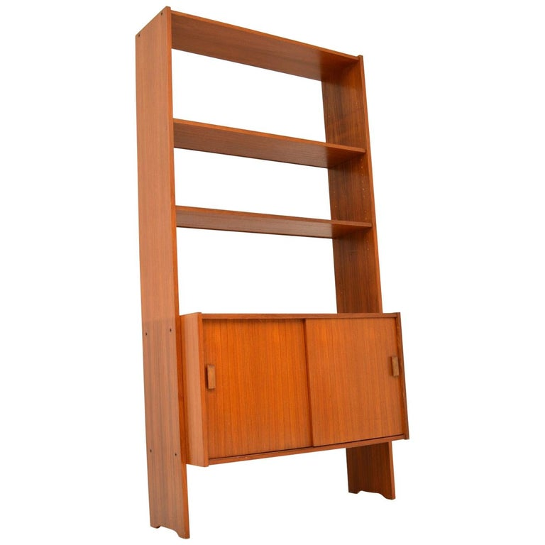 1960s Danish Vintage Teak Bookcase For Sale