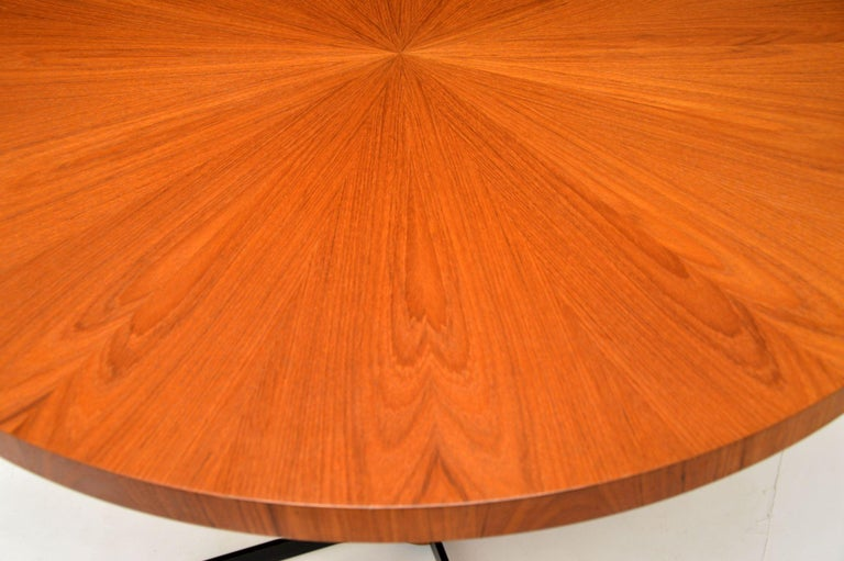 1960s Danish Vintage Teak Dining / Kitchen Table In Good Condition In London, GB