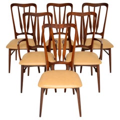 1960s Danish Wood and Leather Dining Chairs by Nils Kofoed