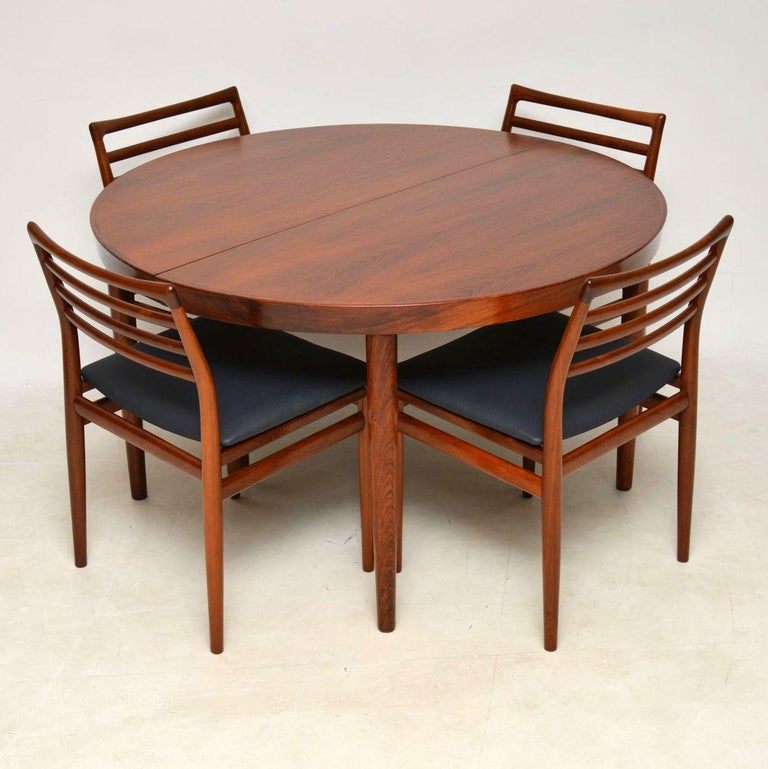 breathtaking danish scandinavian dining room furniture | 1960s Danish Wood Dining Table and 6 Chairs by Erling ...