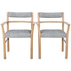 1960s Danish Wooden Armchairs, a Pair