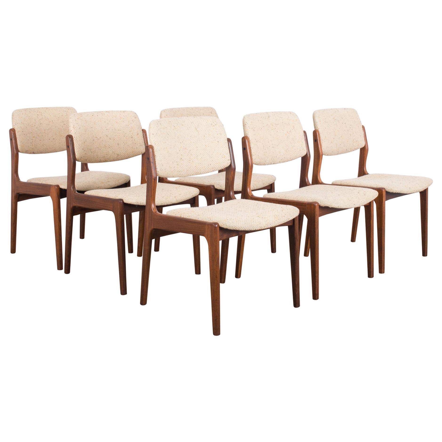1960s Danish Wooden Chairs, Set of Six