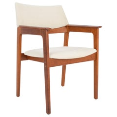 1960s Danish Wooden Upholstered Armchair