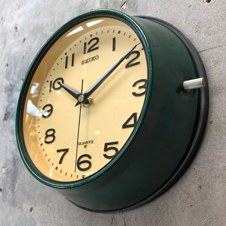 1960s Dark Green Retro Seiko Vintage Industrial Antique