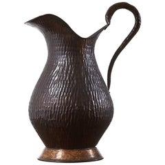 1960s Decorative Copper Jug
