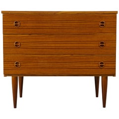 1960s Design Teak Wooden Chest of Drawers