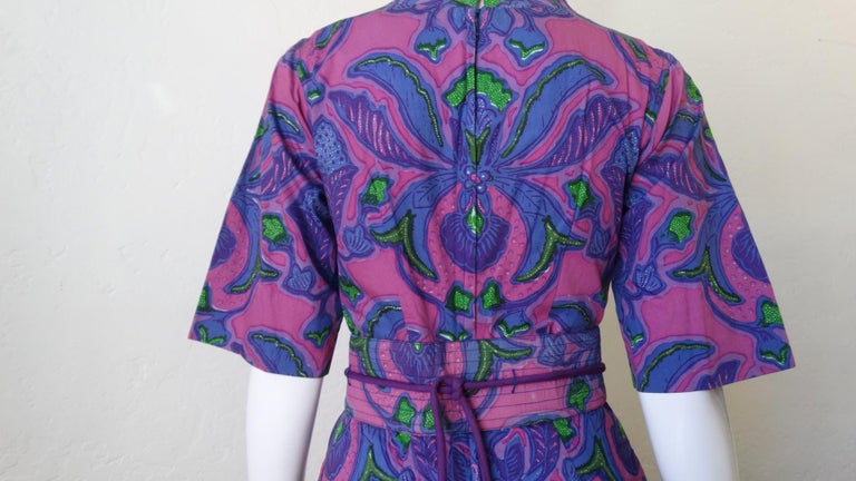 1960s Design Thai Quilted Wide-legged Jumpsuit For Sale 5