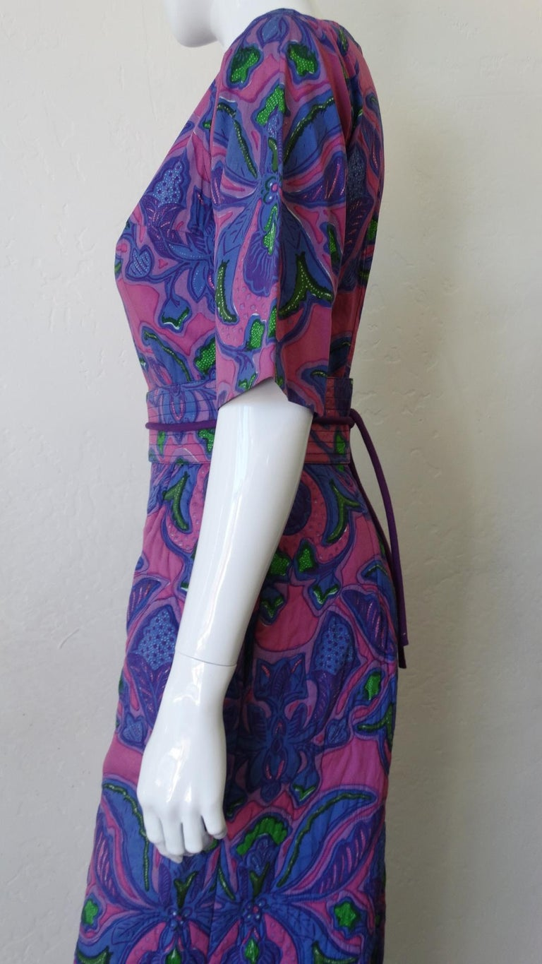 1960s Design Thai Quilted Wide-legged Jumpsuit For Sale 4