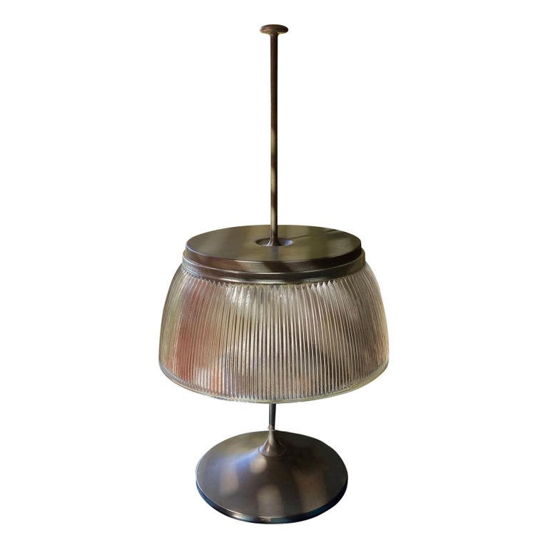 1960's Desk or Table Lamp, Metal and Glass, Attrtibuted to Tito Agnoli, O-Luce For Sale