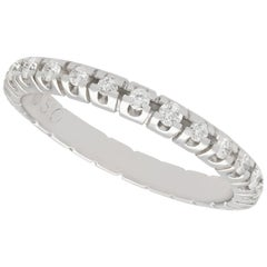 1960s Diamond and White Gold Full Eternity Ring