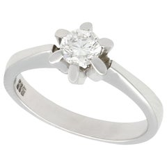 1960s Diamond and White Gold Solitaire Ring