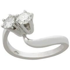 1960s Diamond and White Gold Twist Ring