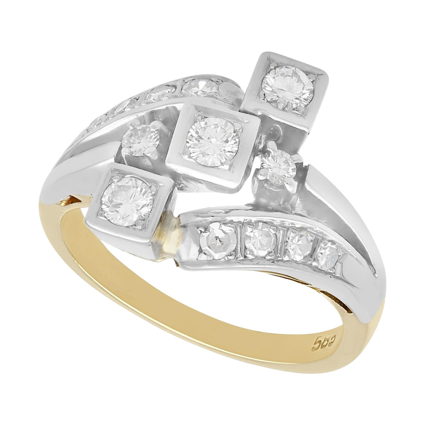 1960s Diamond and Yellow Gold Dress Ring