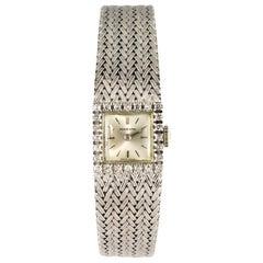 1960s Diamonds 18 Karat White Gold Ladies Marvin Watch