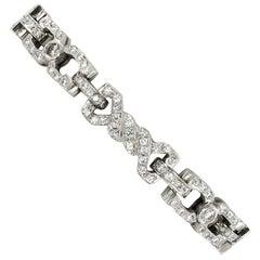 1960s Diamonds Bracelet in 18 Karat White Gold