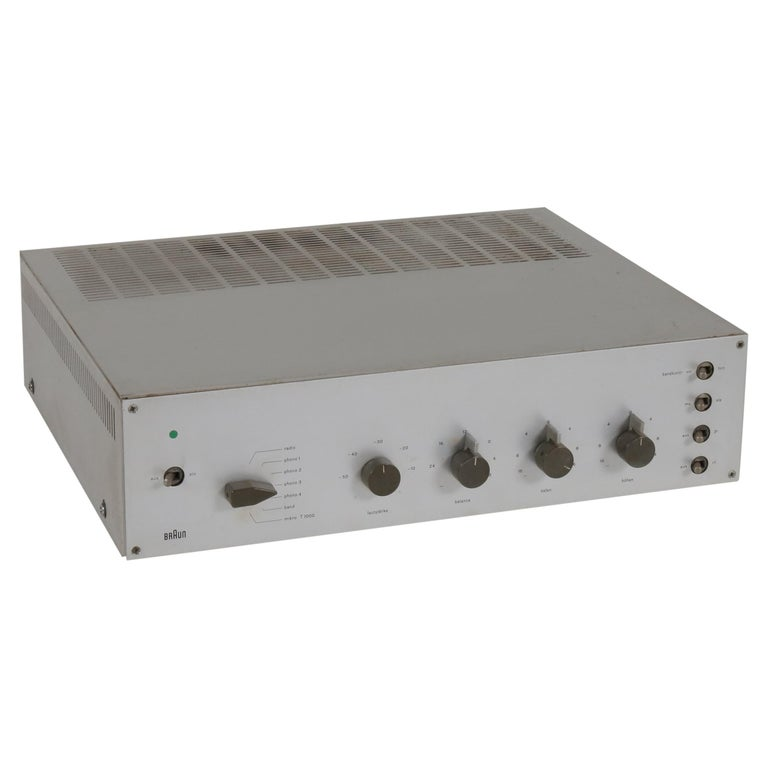 1960s Dieter Rams CSV 60/1 Amplifier for Braun, Germany For Sale