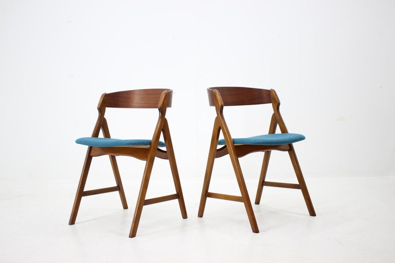 Danish Set of 1960s Dining Chairs by Henning Kjaernulf for Boltinge Støle Møbelfabrik For Sale