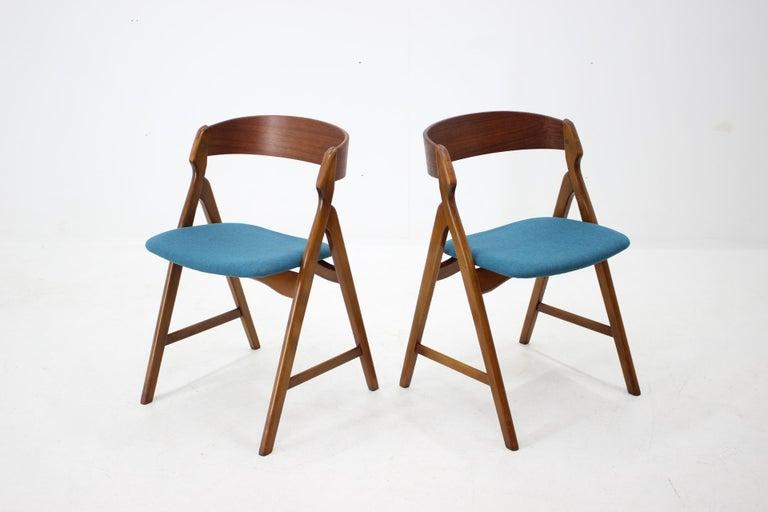 Veneer Set of 1960s Dining Chairs by Henning Kjaernulf for Boltinge Støle Møbelfabrik For Sale
