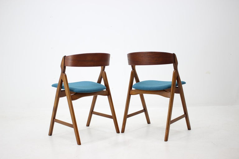 Mid-20th Century Set of 1960s Dining Chairs by Henning Kjaernulf for Boltinge Støle Møbelfabrik For Sale
