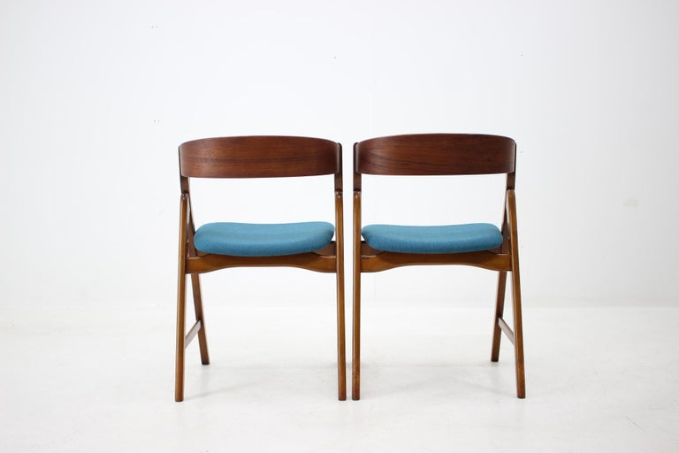 Beech Set of 1960s Dining Chairs by Henning Kjaernulf for Boltinge Støle Møbelfabrik For Sale