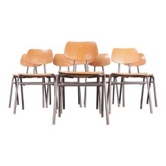 1960s Dining School/University Chairs, Set of Eight, Other Quantities Available