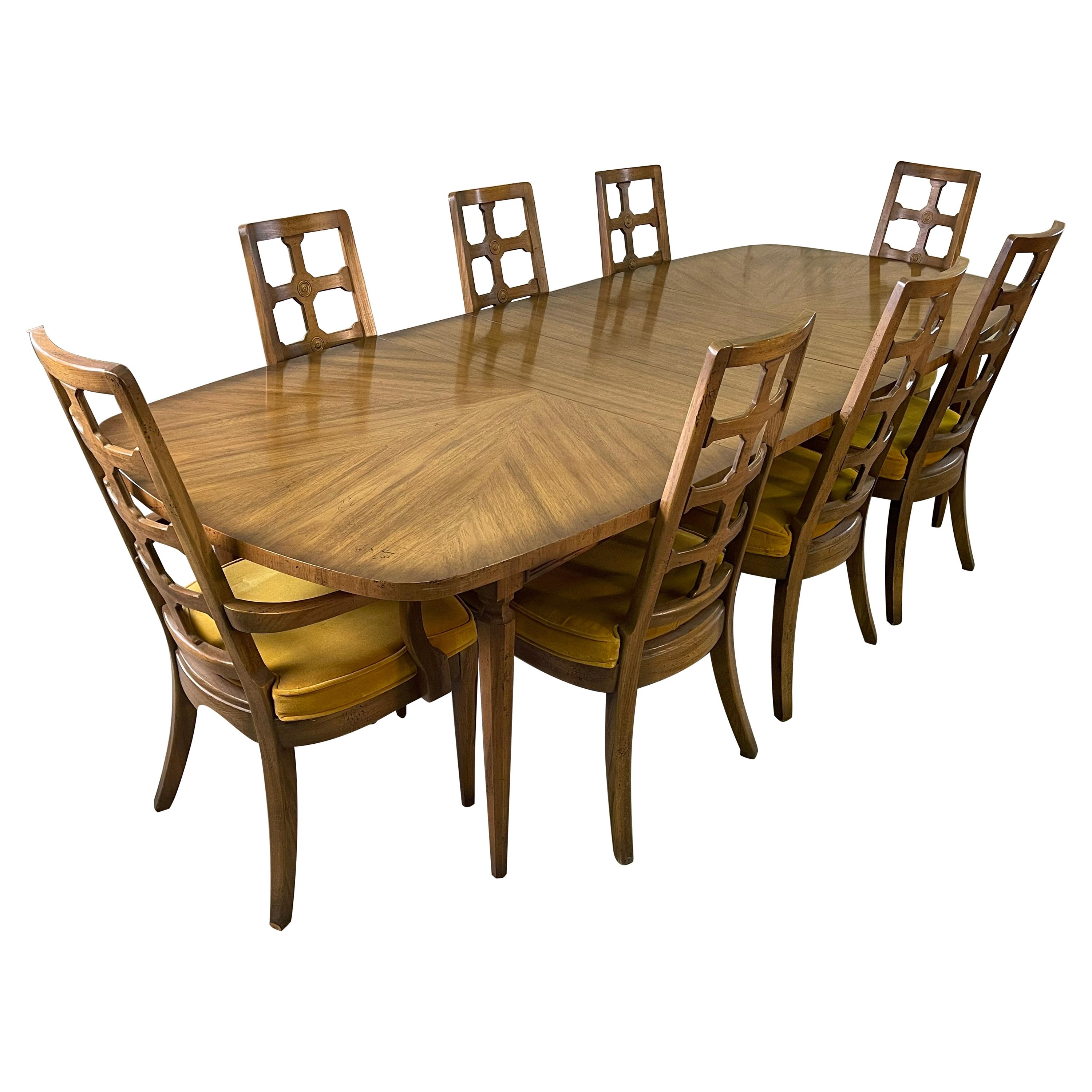 1960s Dining Table with 8 Chairs
