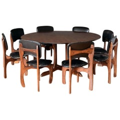 1960s Don Shoemaker Dinning Set with 8 Chairs