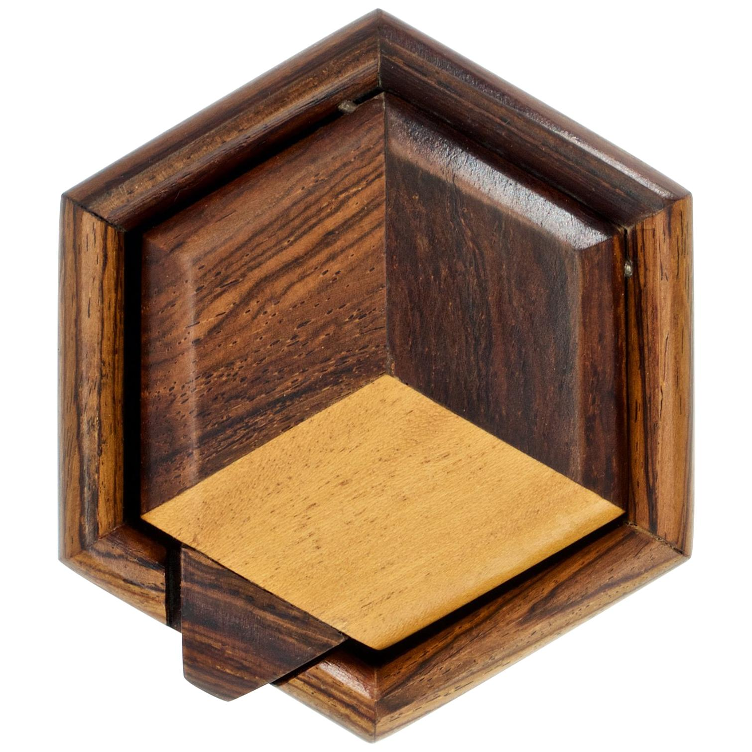 1960s Geometric Jewelry Trinket Geometric Box Mexican Craft Eclectic Woodworker