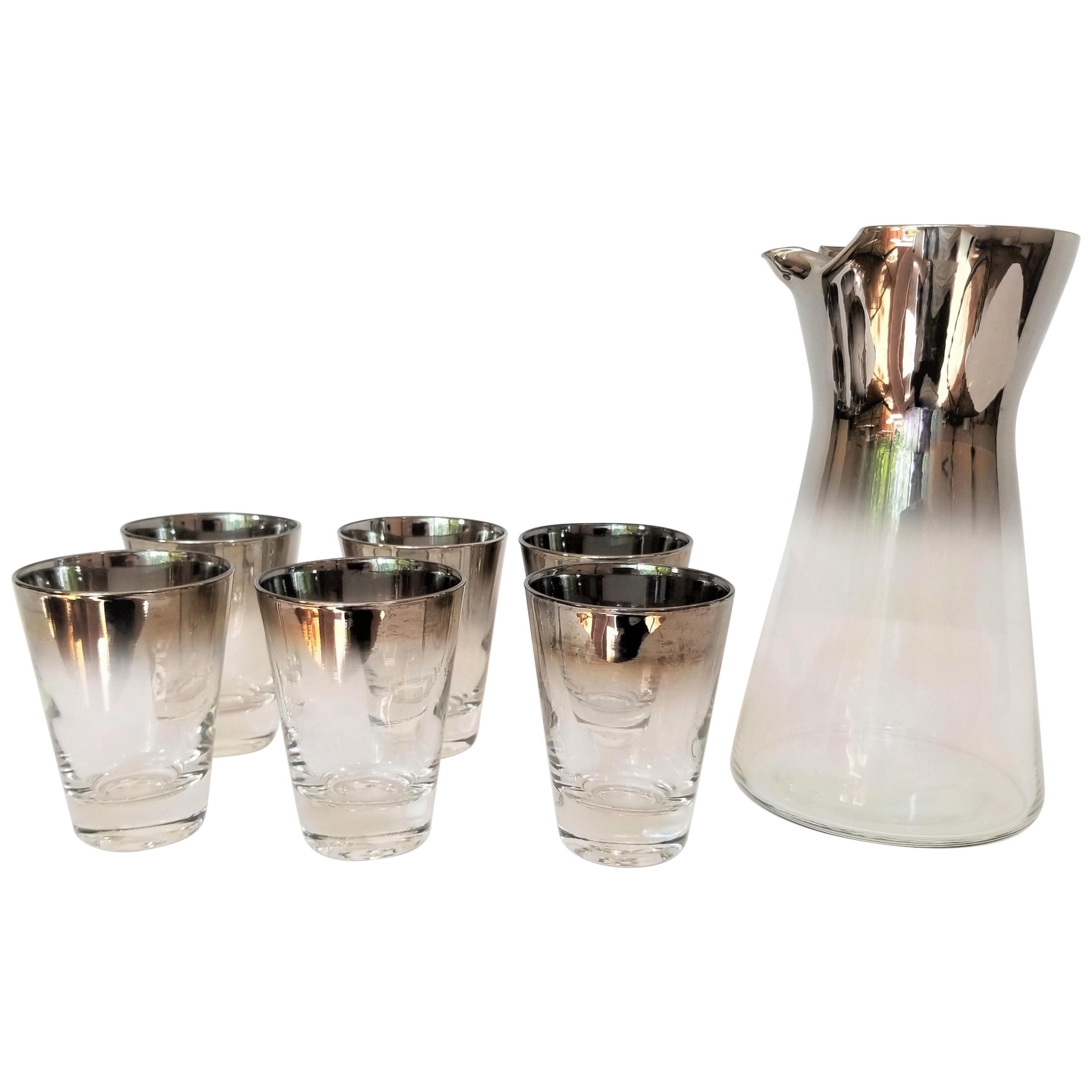 1960s Dorothy Thorpe Midcentury Cocktail Bar Set 7 Pieces