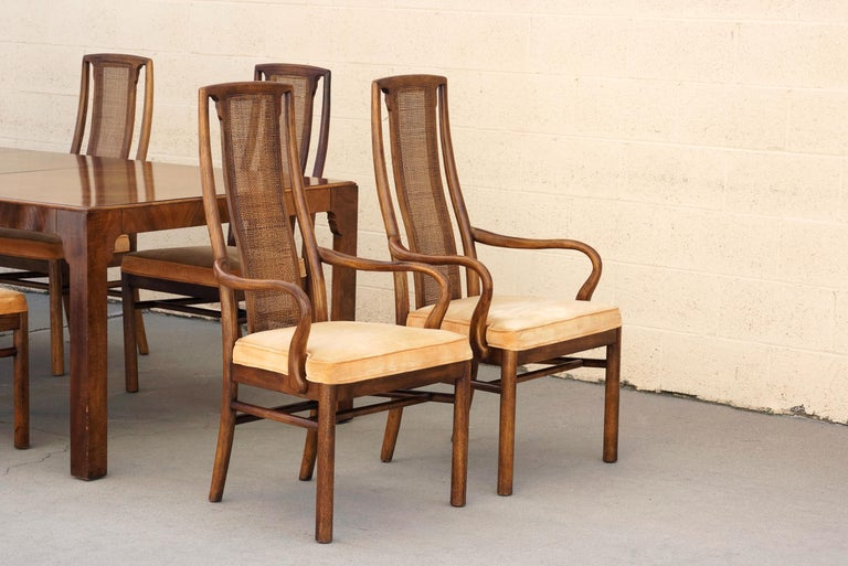 drexel dining room furniture 1960 | 1960s Double-Leaf Dining Table with Eight Chairs by Drexel ...