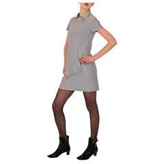 1960's Dove Grey Wool Shift Dress