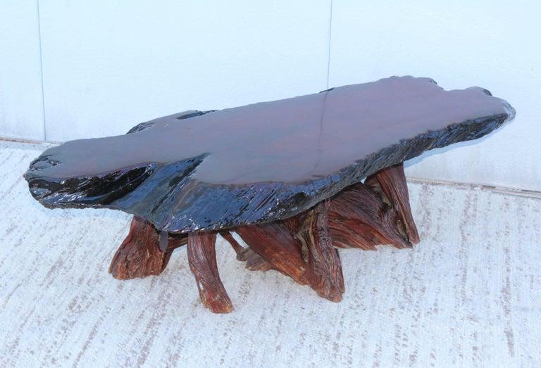 mid century modern 1960s driftwood coffee table for sale - Driftwood Coffee Tables For Sale