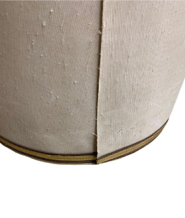 Mid-20th Century 1960s Drum Lamp Shade with Gold Grosgrain Trim For Sale