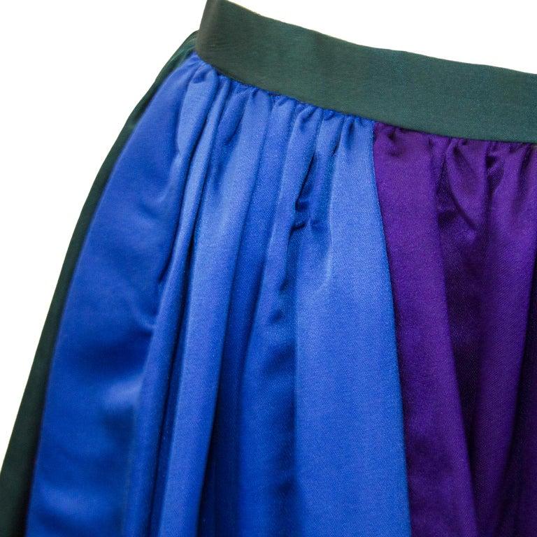 Women's 1960's Duchesse Satin Color Block Evening Skirt For Sale
