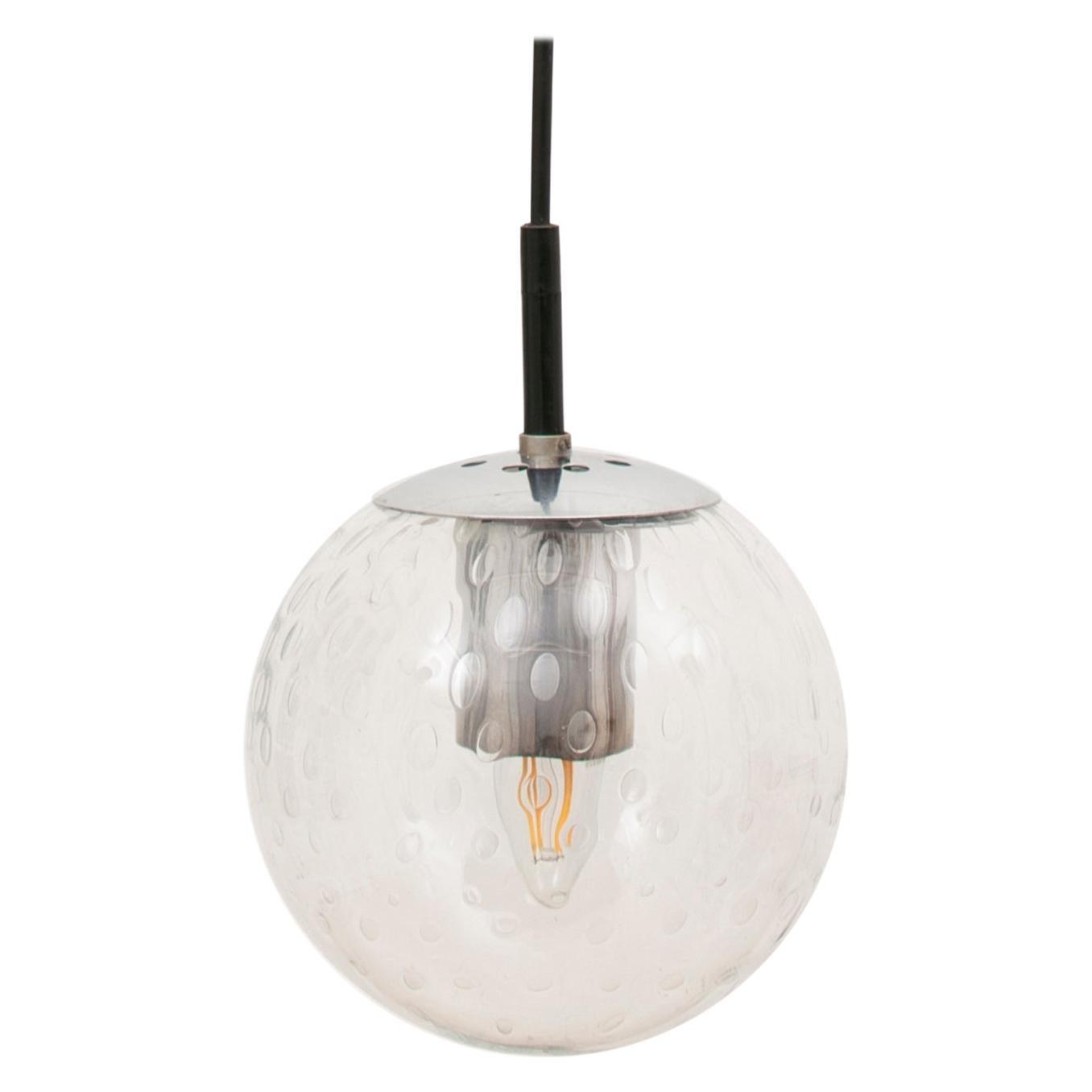 1960s Dutch Globe Pendant 'Light Drops' Light by RAAK Amsterdam 4 Available