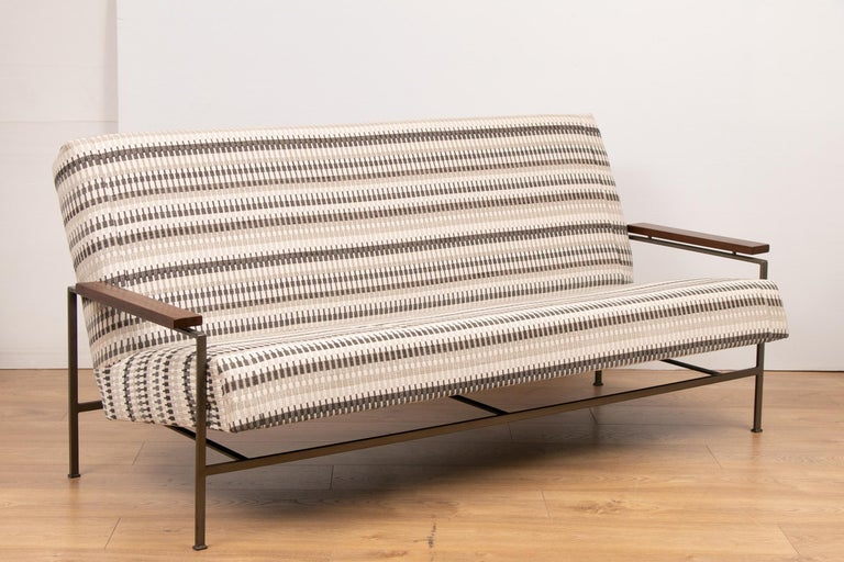 1960s, midcentury, Minimalist, modern, designed sofa, with two armchairs and matching coffee table designed by Rob Parry and manufactured for Gelderland in the Netherlands.