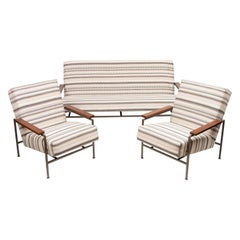 1960s Dutch Rob Parry Gelderland Minimalist Sofa & 2 Armchairs inc. Coffee Table