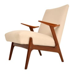 1960s Dutch Vintage Armchair in Teak and Afromosia