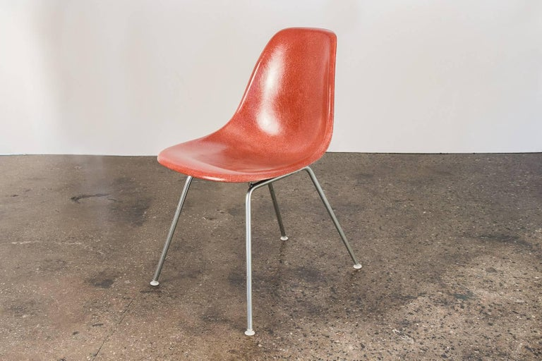 Mid-Century Modern 1960s Eames Terracotta Shell Chair For Sale