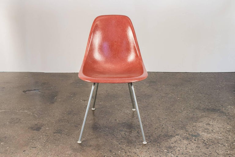Molded 1960s Eames Terracotta Shell Chair For Sale