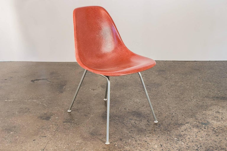 1960s Eames Terracotta Shell Chair In Good Condition For Sale In Brooklyn, NY