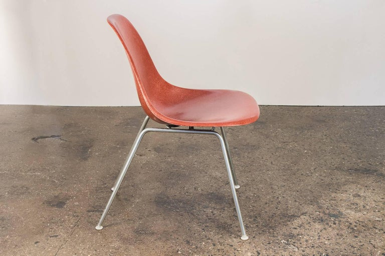 Mid-20th Century 1960s Eames Terracotta Shell Chair For Sale